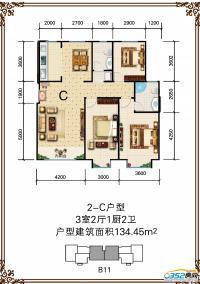 睿和锦城B11号楼2-C户型