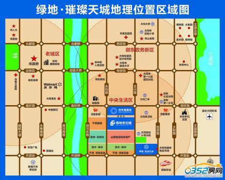 绿地璀璨天城区位图