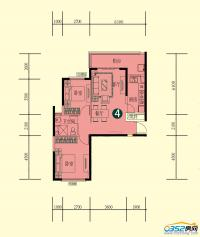 15号楼一单元标准层1-4户型