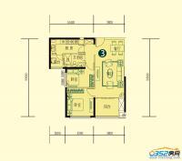 15号楼一单元二层1-3户型
