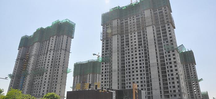 星港城5.26日最新工程进度 1、2号楼即将封顶