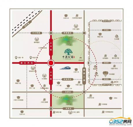 中央公园区位图