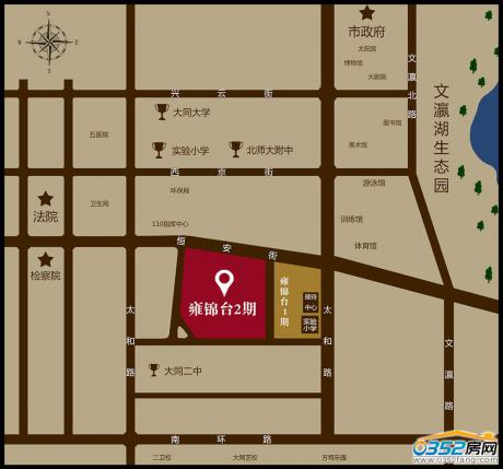 雍锦台二期区位图