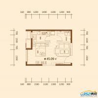 公寓户型45.09㎡