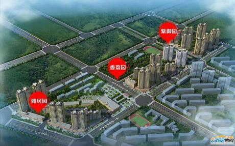 枫林逸景二期项目鸟瞰图