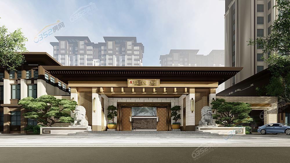 新中式房子素材png