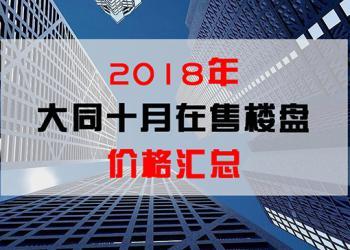 @广大购房者 大同十月各大楼盘最新房价出炉!