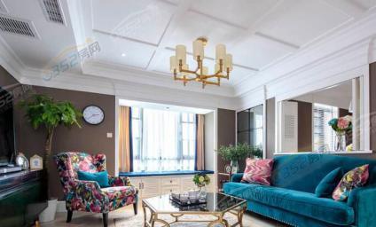 120㎡的美式风格三居室,复古装修超有气质