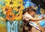 恒大翡翠华庭创意油画DIY活动 让你过把艺术瘾