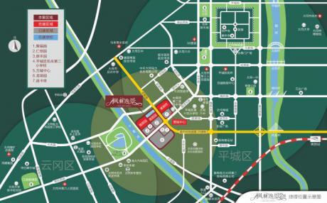 枫林逸景二期项目区位图