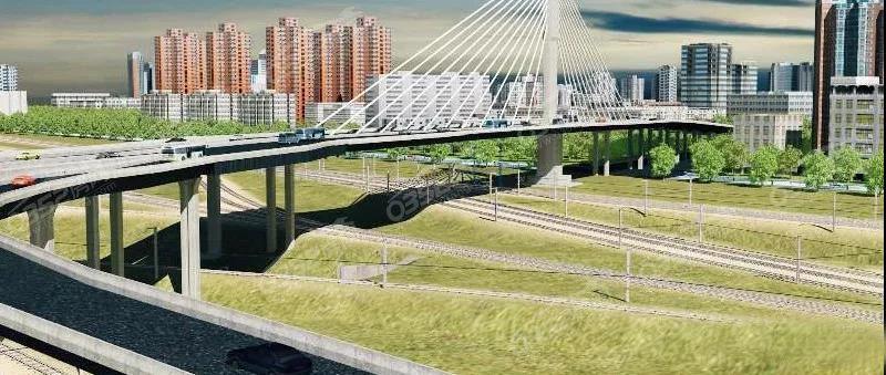 大同城区平城街西延跨铁路桥施工有序推进中