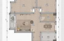 建龙鑫红苑 2室2厅1卫 98㎡