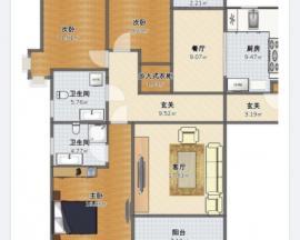 柳港园A区 3室2厅2卫 132㎡,精装南北通透大三居