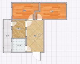 西花园东华西院 2室1厅1卫 58㎡