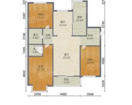建龙鑫红苑 3室2厅2卫 116.67㎡ 全款