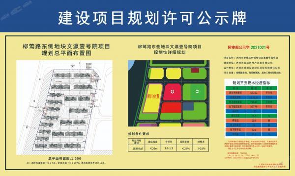 文瀛壹号院项目规划公示